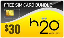 $29.89 H2O Wireless SIM Cards
