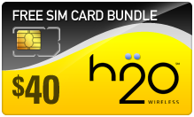 $39.89 H2O Wireless SIM Cards