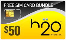 Buy the $59.99 H2O Wireless SIM Cards | On SALE for Only $49.79