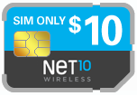 Buy the $10.00 Net10 Wireless SIM Cards | On SALE for Only $0.99