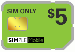 $2.99 Simple Mobile Sim Cards (Dual Reg/Micro SIM)