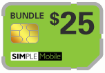 $24.89 Simple Mobile Sim Cards (Dual Reg/Micro SIM)