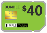 $39.79 Simple Mobile Sim Cards (Dual Reg/Micro SIM)