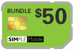 $49.69 Simple Mobile Sim Cards (Dual Reg/Micro SIM)