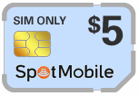 Buy the $5.00 Spot Mobile SIM Cards | On SALE for Only $2.99