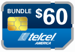 Buy the $65.00 TelCel America SIM Cards | On SALE for Only $59.89