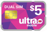 $2.99 Ultra Mobile DUAL SIM Cards